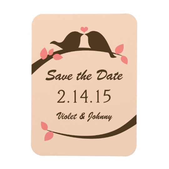 Love Birds Save the Date Rectangular Photo Magnet
