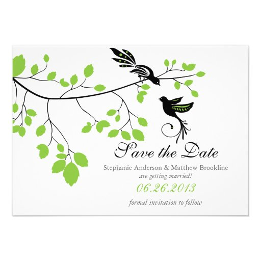 Love Birds Save the Date Wedding Announcement
