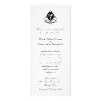 "Love Birds simple wedding invitation 4"" X 9.25"" Invitation Card"