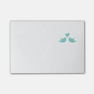 Love Birds Singing from the Heart Post-it Notes