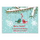 Love Birds Snow Winter Scene Holiday Party Card