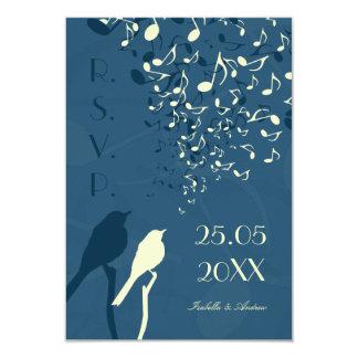Love Birds Song - RSVP 9 Cm X 13 Cm Invitation Card