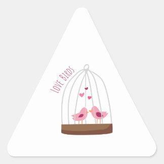 Love Birds Triangle Sticker