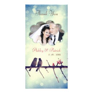 Love Birds Story 2 Thank You Photo Card