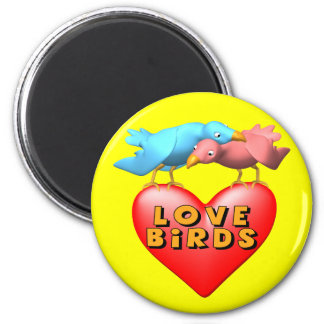 Love Birds T-shirts and Gifts 6 Cm Round Magnet