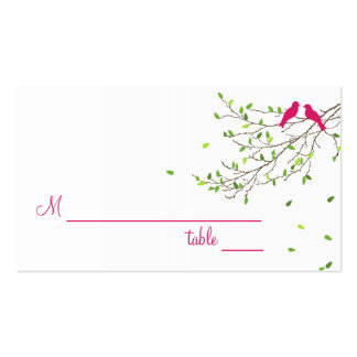 Love Birds Table Place Card Magenta Greens Business Card
