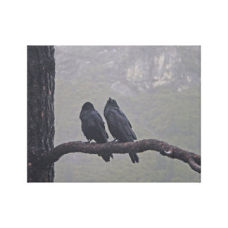Love Birds Together Stretched Canvas Print