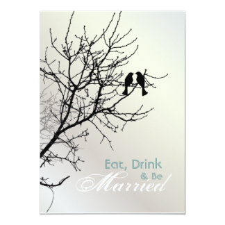 Love Birds Tree Wedding rehearsal dinner Card