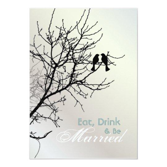 Love Birds Tree Wedding rehearsal dinner Card