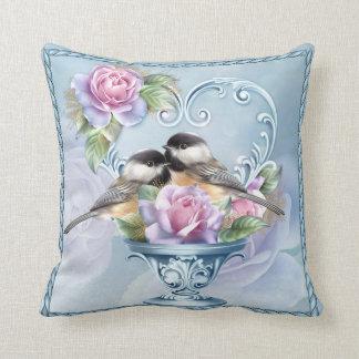 "Love Birds Valentine Throw Cushion 16"" x 16"""