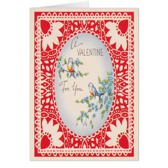 Love Birds Valentines Day Card