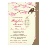 Love Birds Vintage Cage Blossom Bridal Shower Personalized Announcement