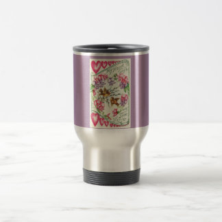 Love Birds Vintage Valentine Travel Mug