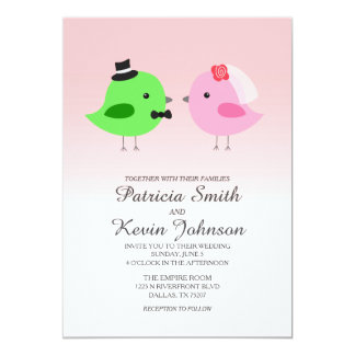 Love Birds Wedding 13 Cm X 18 Cm Invitation Card
