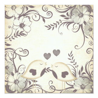 Love Birds Wedding (blank) Card