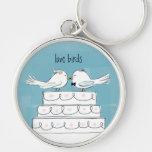 Love Birds Wedding Cake Kiss Keychains