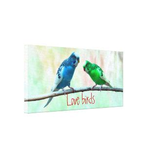 Love birds wedding engagement stretched canvas prints