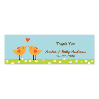 Love Birds Wedding Favor Tags Pack Of Skinny Business Cards