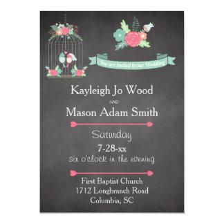 Love Birds Wedding 13 Cm X 18 Cm Invitation Card