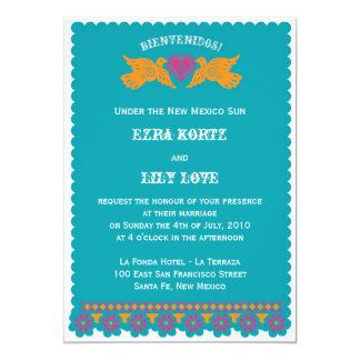 Love Birds Wedding Invitation - Aqua