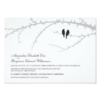 Love Birds Wedding Invitation (black)