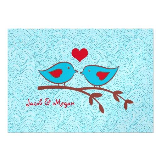 Love Birds Wedding Invitation Template | Zazzle.co.uk
