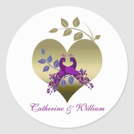 Love Birds Wedding Stickers