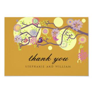 Love Birds Wedding Thank You Card 9 Cm X 13 Cm Invitation Card