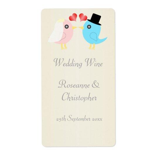 Love Birds Wedding Wine