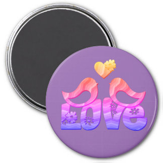 Love Birds with a Heart Magnet