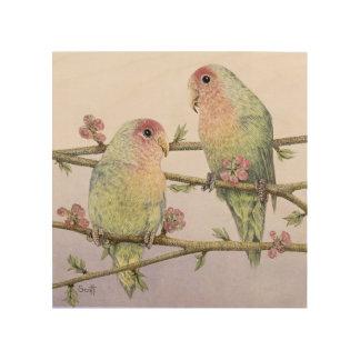 Love Birds Wood Wall Art