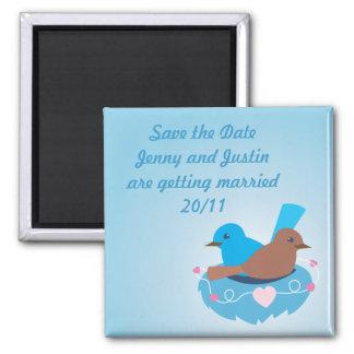 Love Birds wren brown Square Magnet