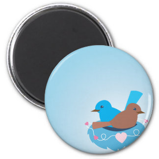 Love Birds wren brown Fridge Magnet