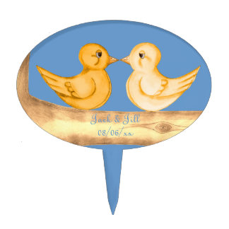 Love Birds (Yellow) Cake Topper