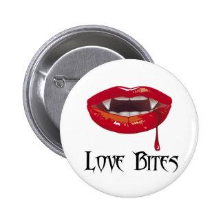 Love Bites 6 Cm Round Badge