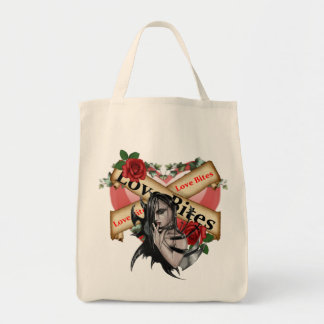 Love Bites - Organic Grocery Tote