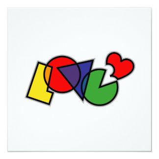 Love Bites Word 13 Cm X 13 Cm Square Invitation Card