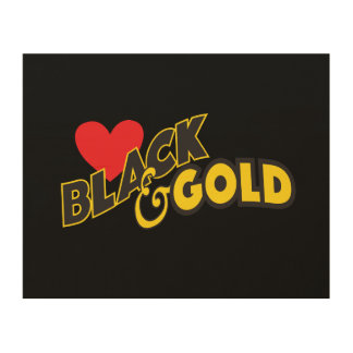LOVE BLACK AND GOLD WALL ART