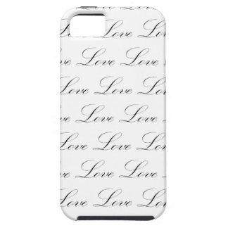 Love Black and White Script iPhone 5/5S Case