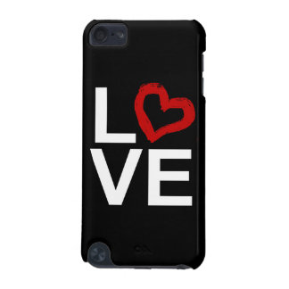 LOVE, Black and White with Red Sketched Heart iPod Touch 5G Case