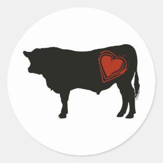 Love Black Angus Beef Round Sticker