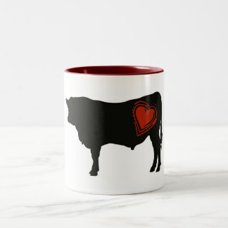 Love Black Angus Beef Two-Tone Coffee Mug