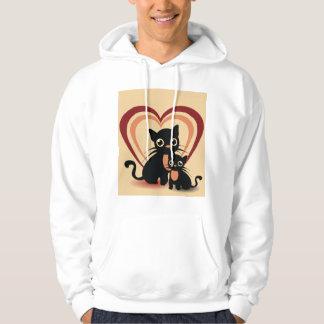 Love Black Cats Mens Hoodie