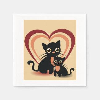 Love Black Cats Paper Napkins