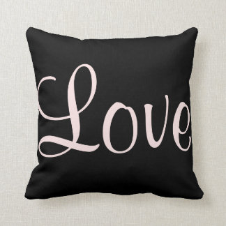Love Black & Pink Custom Lighthouse Route Cushion