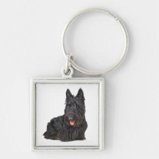 Love Black Scottish Terrier Puppy Dog  Keychain