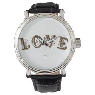 Love Black Vintage Leather Watch