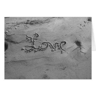 Love Black & White Greetings Card