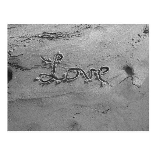 Love Black & White Postcard