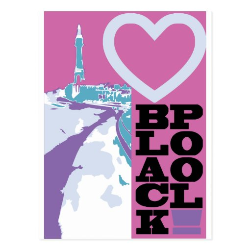 Love Blackpool Post Cards